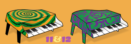 Paper Pianos 11 and 12