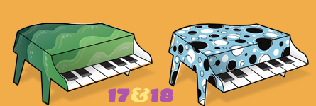 Paper Pianos 17 and 18