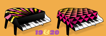 Paper Pianos 19 and 20