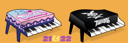 Paper Pianos 21 and 22