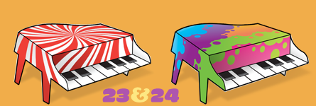 Paper Pianos 23 and 24