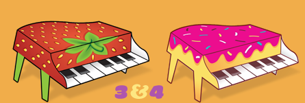 Paper Pianos 3 and 4