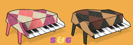 Paper Pianos 5 and 6