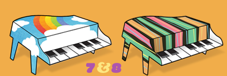 Paper Pianos 7 and 8